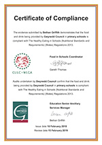 Certificate of Compliance for Gwynedd Primary School Provision